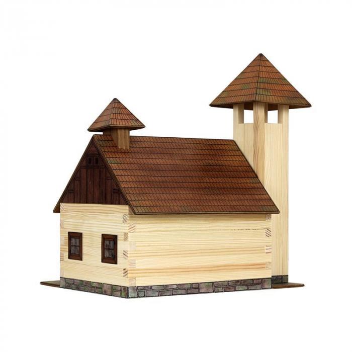 Set constructie arhitectura Statie de pompieri, 128 piese din lemn, Walachia [1]
