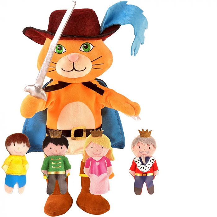 Set papusa si marionete - Motanul incaltat / Puss in boots hand and finger puppet set [0]