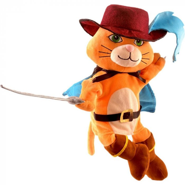Set papusa si marionete - Motanul incaltat / Puss in boots hand and finger puppet set [1]