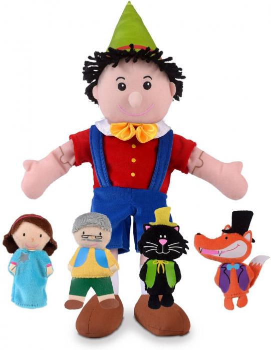 Set papusa si marionete - Pinochio / Pinocchio hand and finger puppet set [0]