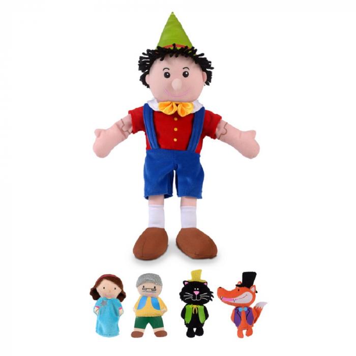 Set papusa si marionete - Pinochio / Pinocchio hand and finger puppet set [1]
