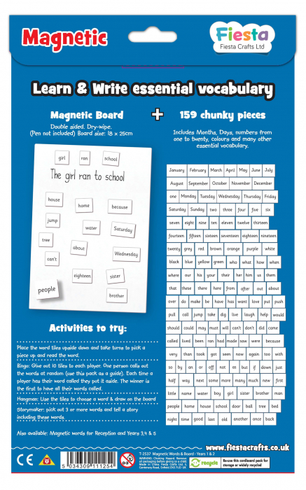 Activitati cu litere magnetice pentru incepatori / Magnetic words Board for year 1-2 [1]