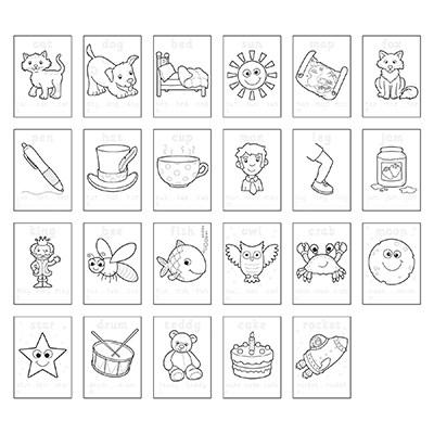 Carte de colorat cu abtibilduri Primele cuvinte / FIRST WORDS [4]