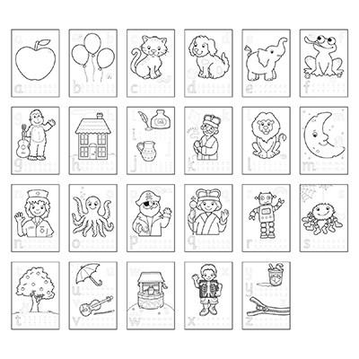 Carte de colorat cu activitati in limba engleza si abtibilduri ABC [1]