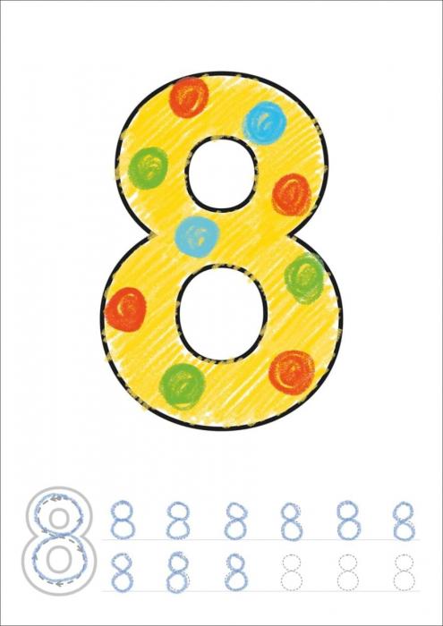 Carte de colorat cu activitati Invata numerele / NUMBER [2]