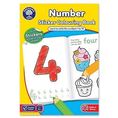 Carte de colorat cu activitati Invata numerele / NUMBER [0]