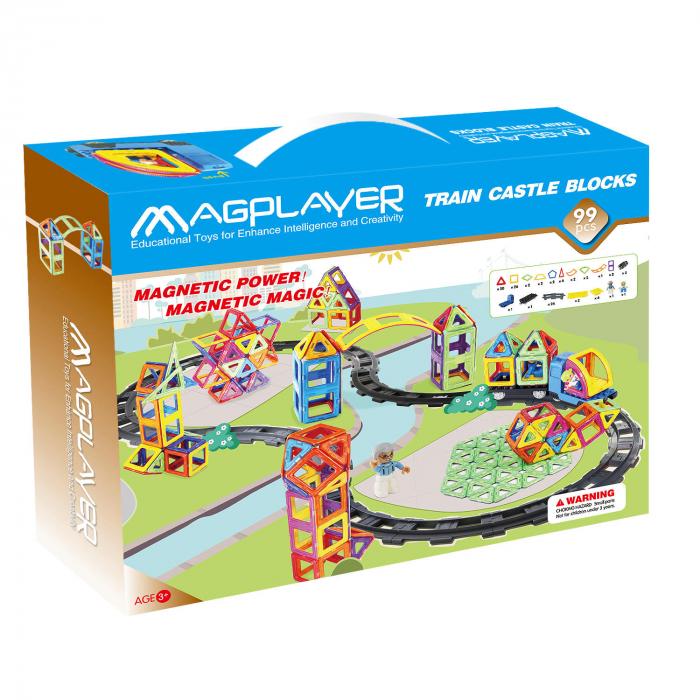 Joc de constructie magnetic - 99 piese [2]