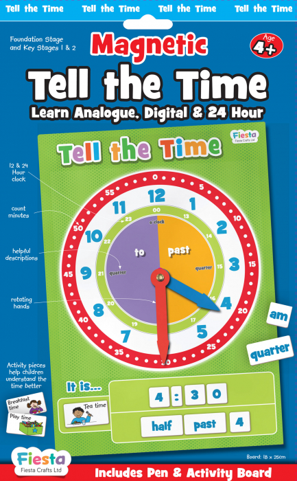Joc educativ Cat e ceasul? / Tell the time Fiesta Crafts [0]