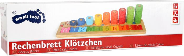 """Joc educativ Numaratoare cu inele colorate / Calculation table """"Wooden Rings"""" [1]"""