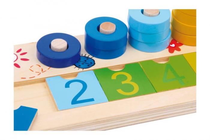 """Joc educativ Numaratoare cu inele colorate / Calculation table """"Wooden Rings"""" [2]"""