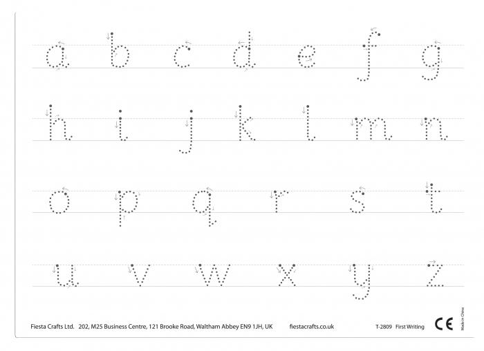 Joc educativ Primele notiuni de scris - Litere / First Writing - Fiesta Crafts [4]
