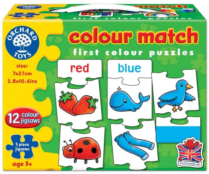Joc educativ - puzzle in limba engleza Invata culorile prin asociere COLOUR MATCH [0]