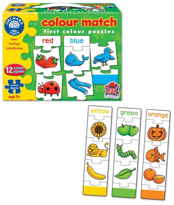 Joc educativ - puzzle in limba engleza Invata culorile prin asociere COLOUR MATCH [2]