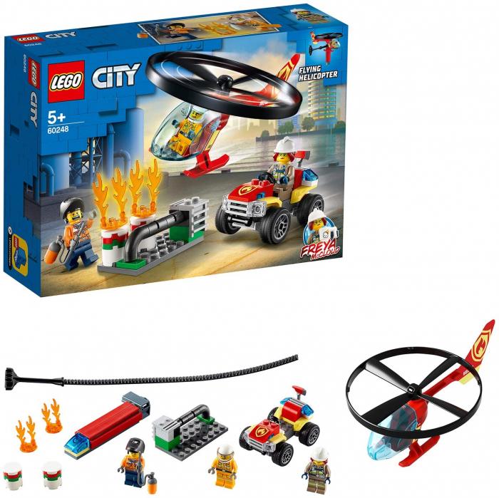 LEGO CITY INTERVENTIE CU ELICOPTERUL DE POMPIERI 60248 [6]