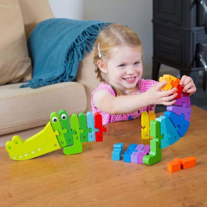 Puzzle Alfabet - Crocodil [3]