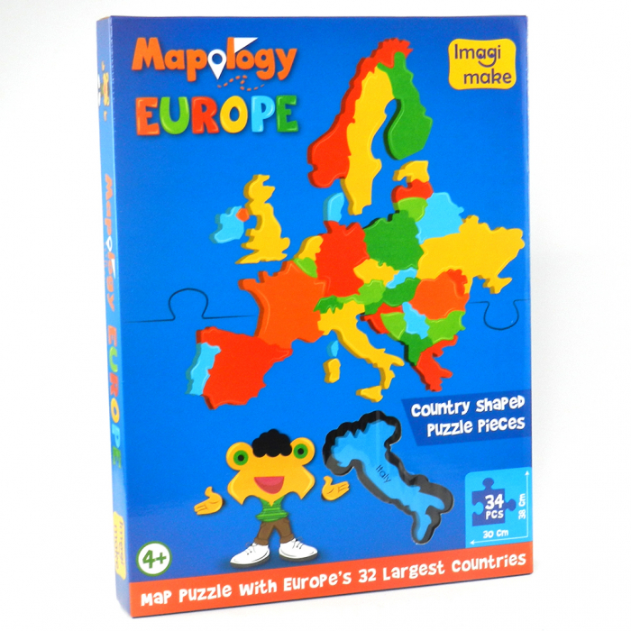 Pachet Puzzle educativ din spuma: Harta Lumii + Harta Europei - Imagimake [3]