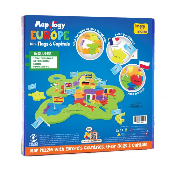 Puzzle educativ din spuma EVA - Harta Europei - steaguri si capitale [4]