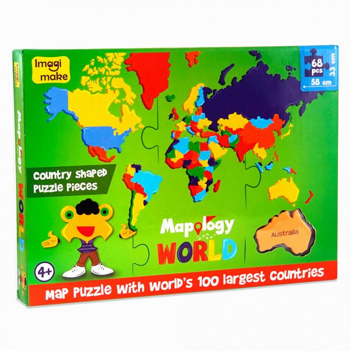 Pachet Puzzle educativ din spuma: Harta Lumii + Harta Europei - Imagimake [2]