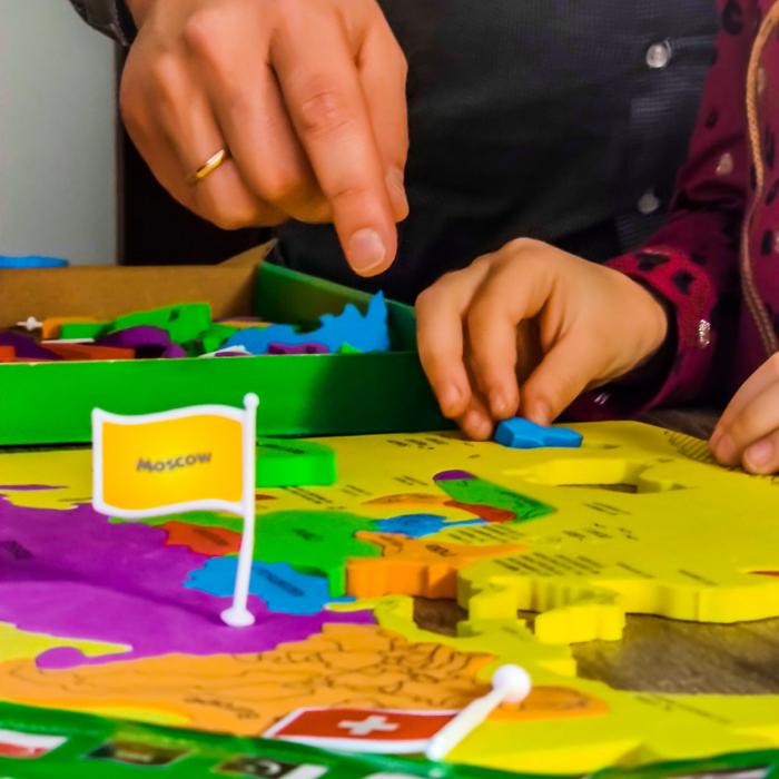 Puzzle educativ din spuma EVA - Harta lumii - steaguri si capitale - Imagimake [2]
