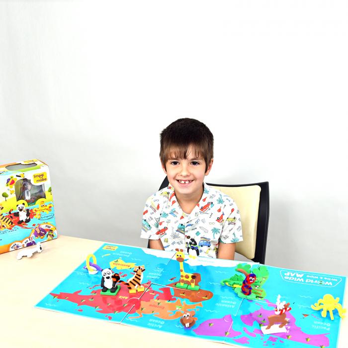Puzzle educativ Harta lumii - Animale - din spuma Eva [7]