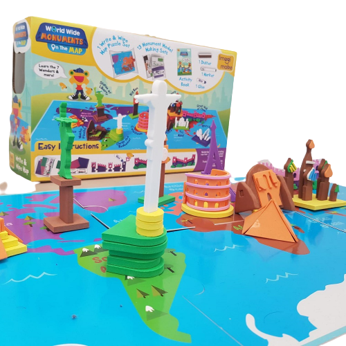 Puzzle educativ Harta lumii - Monumente - din spuma Eva [3]