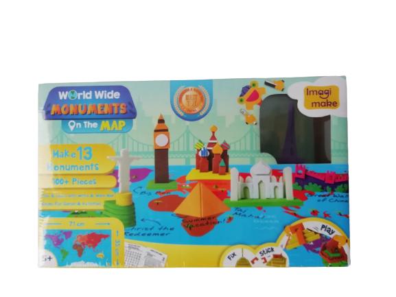 Puzzle educativ Harta lumii - Monumente - din spuma Eva [4]