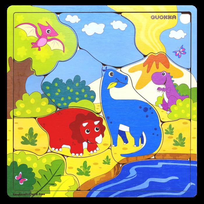 "Puzzle ""Familie Dinozauri"" - jucarie educativa Quokka [1]"