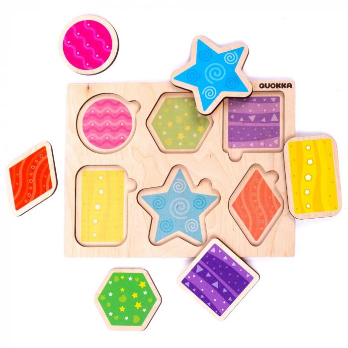 Puzzle Forme geometrice - jucarie educativa Quokka [0]