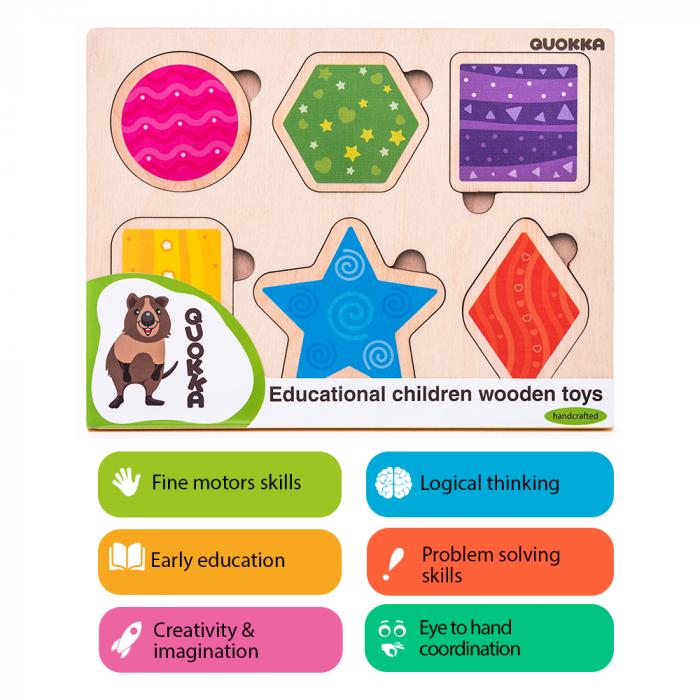 Puzzle Forme geometrice - jucarie educativa Quokka [2]