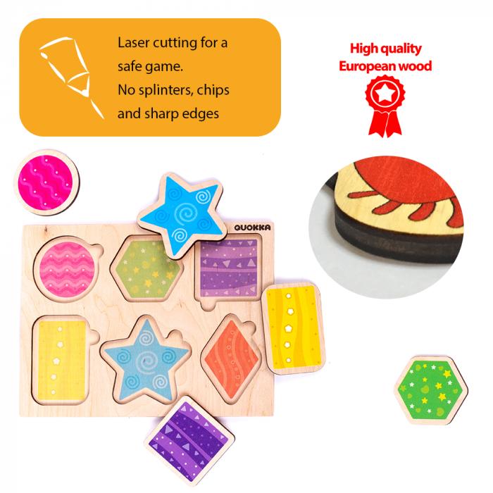 Puzzle Forme geometrice - jucarie educativa Quokka [4]