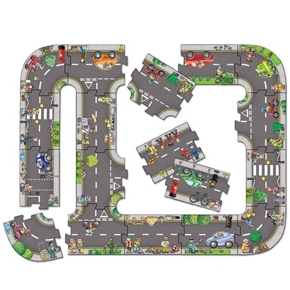 Puzzle gigant de podea traseu masini (20 piese) GIANT ROAD JIGSAW [1]