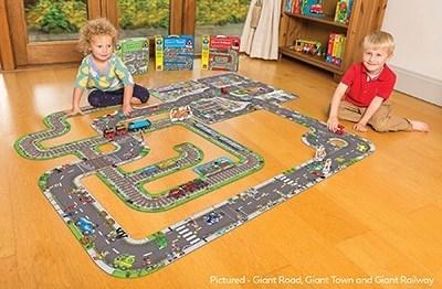 Puzzle gigant de podea traseu masini (20 piese) GIANT ROAD JIGSAW [2]