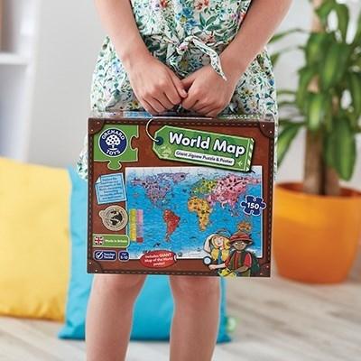 Puzzle si poster Harta lumii (limba engleza 150 piese) WORLD MAP PUZZLE & POSTER [10]
