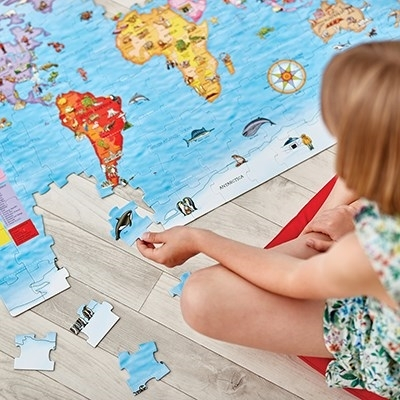 Puzzle si poster Harta lumii (limba engleza 150 piese) WORLD MAP PUZZLE & POSTER [8]