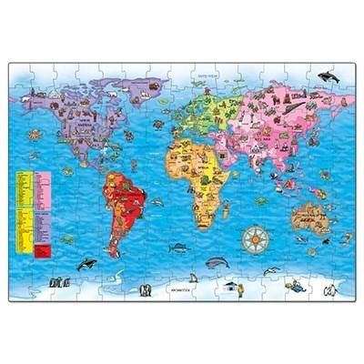Puzzle si poster Harta lumii (limba engleza 150 piese) WORLD MAP PUZZLE & POSTER [5]