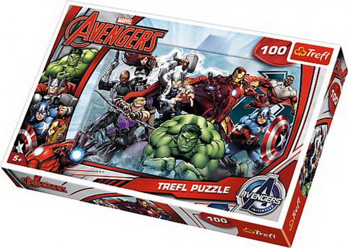 Puzzle Trefl 100 Incepe atacul Marvel [0]