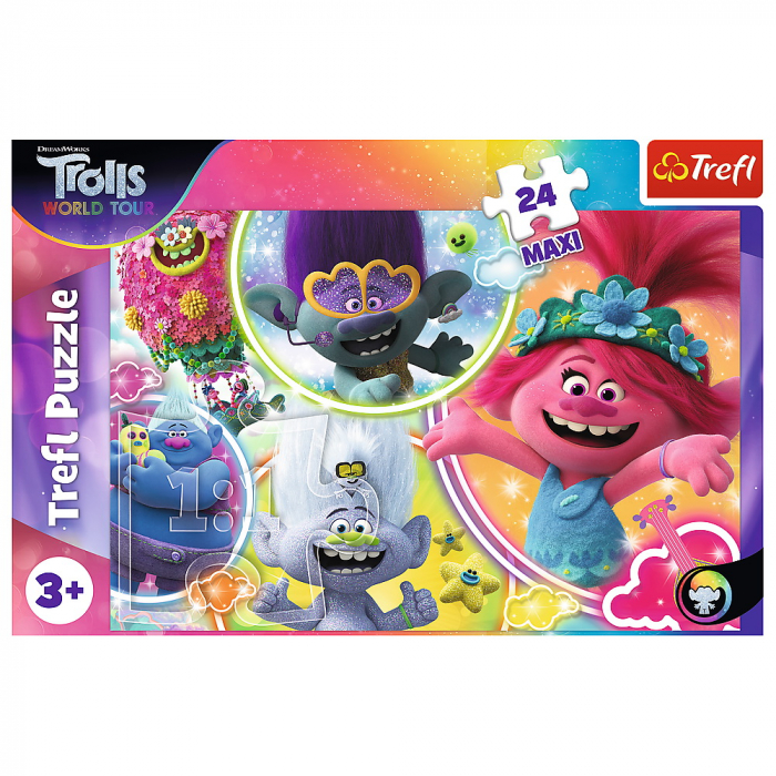 Puzzle Trefl 24 Maxi Lumea muzicala a Trolilor [2]