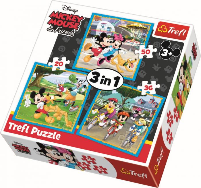 PUZZLE TREFL 3IN1 MICKEY MOUSE SI PRIETENII [0]