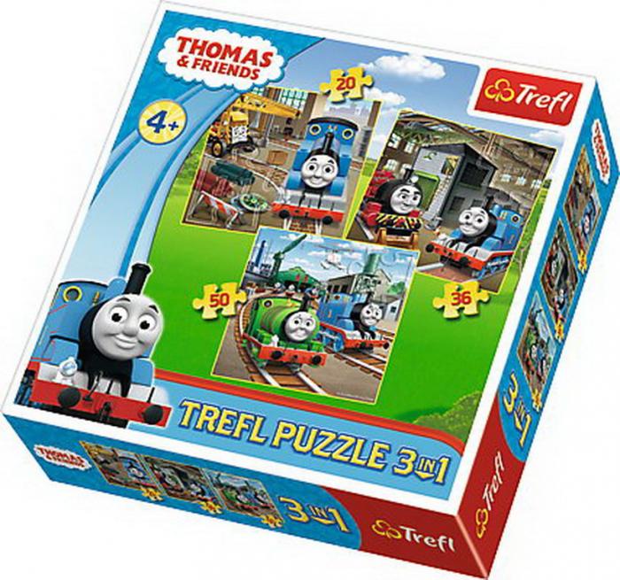 Puzzle Trefl 3in1 Thomas intra in actiune [0]