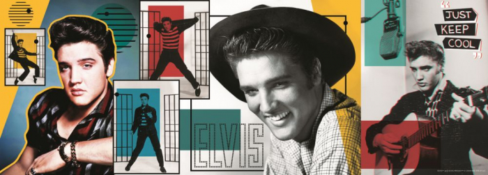 Puzzle Trefl panorama 500 colaj Elvis Presley [1]