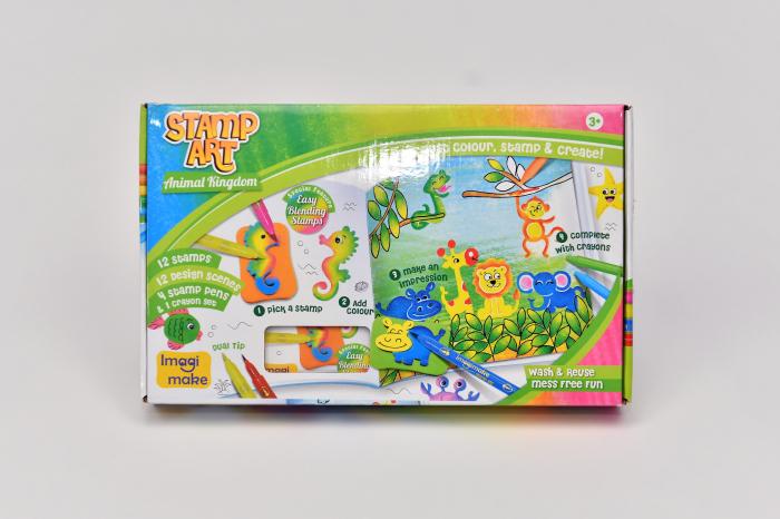 Set creativ cu stampile - Regatul Animalelor [4]
