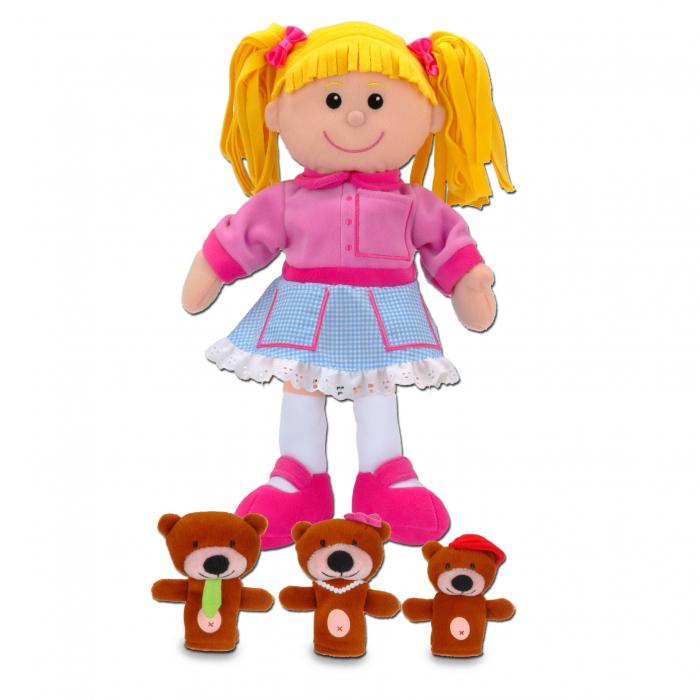 Set papusa si marionete Goldilocks si cei 3 ursuleti / Goldilocks and the Three Bears - Fiesta Crafts [0]