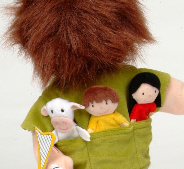 Set Papusa si marionete Jack si vrejul de fasole / Jack and the Beanstalk Hand - Fiesta Crafts [2]