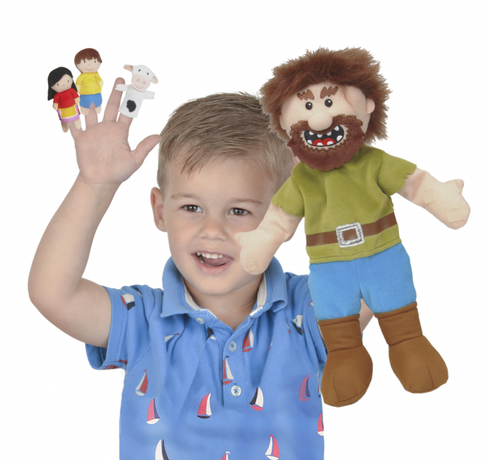 Set Papusa si marionete Jack si vrejul de fasole / Jack and the Beanstalk Hand - Fiesta Crafts [0]