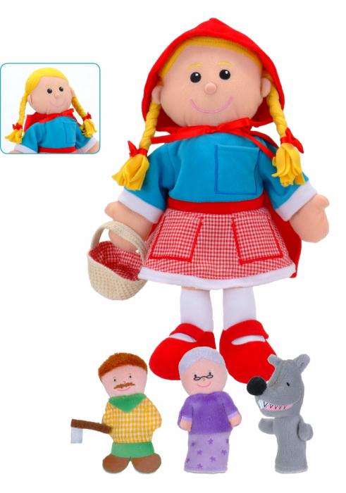 Set Papusa si marionete Scufita Rosie / Red Riding Hood - Fiesta Crafts [0]