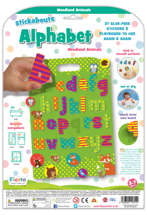 Stickere cu animale / Woodland Animals Alphabet [2]