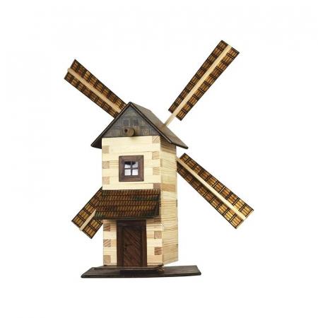 Set constructie arhitectura Moara de vant, 137 piese din lemn, Walachia [0]