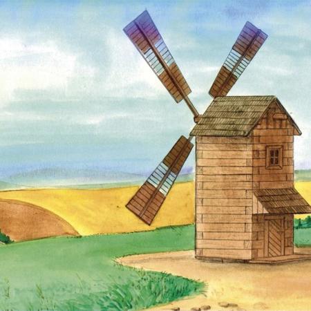 Set constructie arhitectura Moara de vant, 137 piese din lemn, Walachia [2]