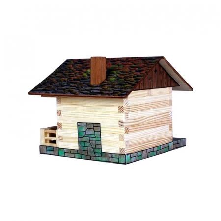 Set constructie arhitectura Cabanuta alpina, 102 piese din lemn, Walachia [2]