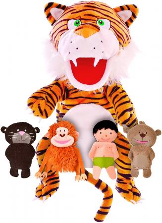 Set papusa si marionete - Cartea Junglei / Jungle book hand&finger puppet set [0]